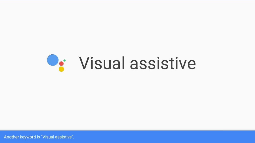 """Visual assistive Another keyword is """"Visual ass..."""