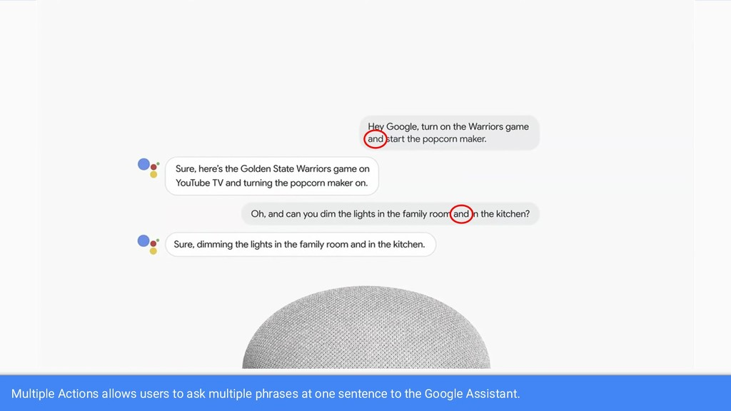 Multiple Actions allows users to ask multiple p...