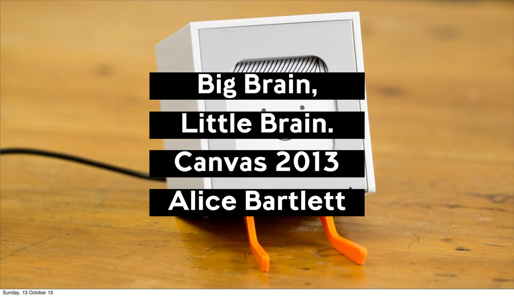 Big Brain, Little Brain. Canvas 2013 Alice Bart...