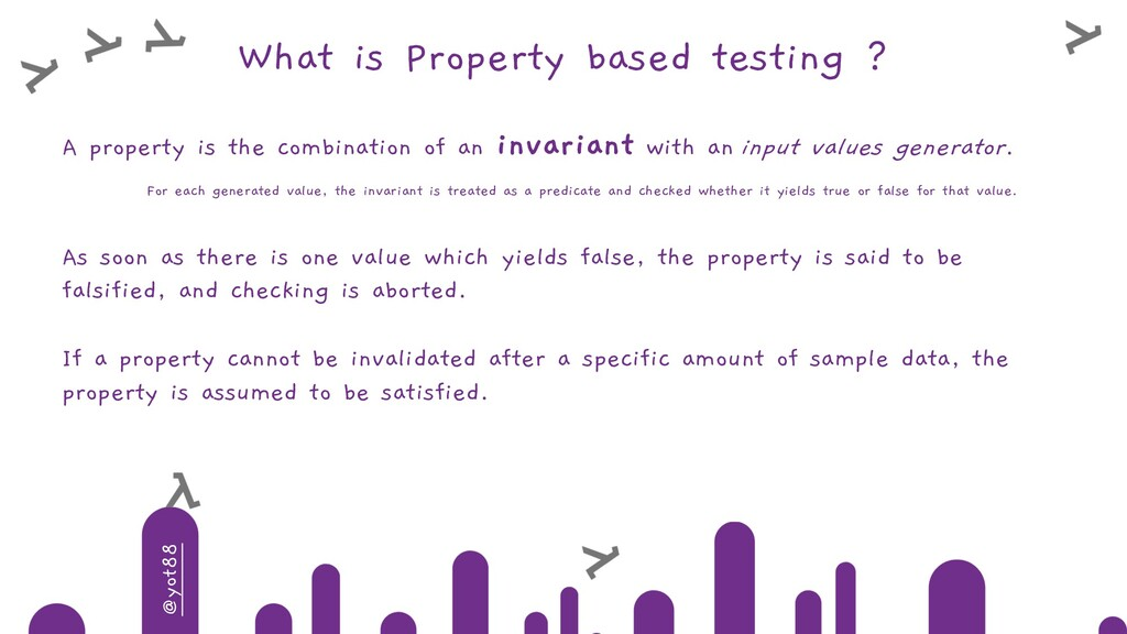 @yot88 What is Property based testing ? A prope...