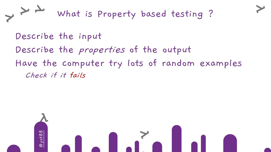 @yot88 What is Property based testing ? Describ...