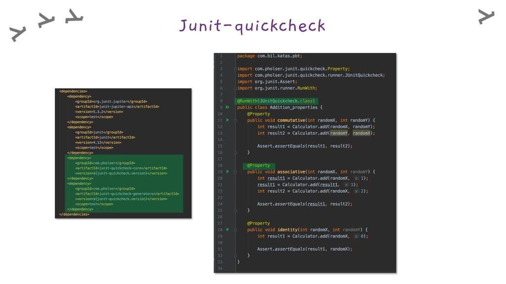 Junit-quickcheck