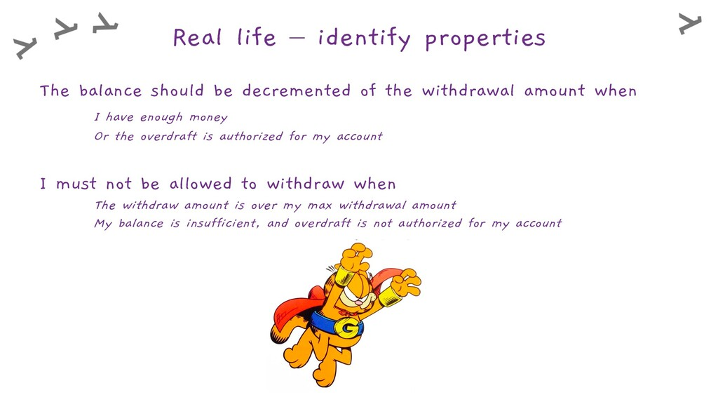 Real life – identify properties The balance sho...