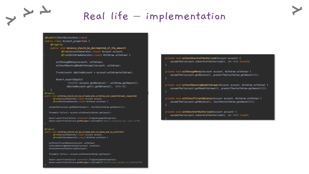 Real life – implementation