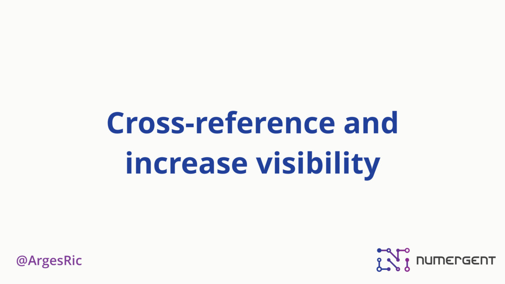 @ArgesRic Cross-reference and increase visibili...