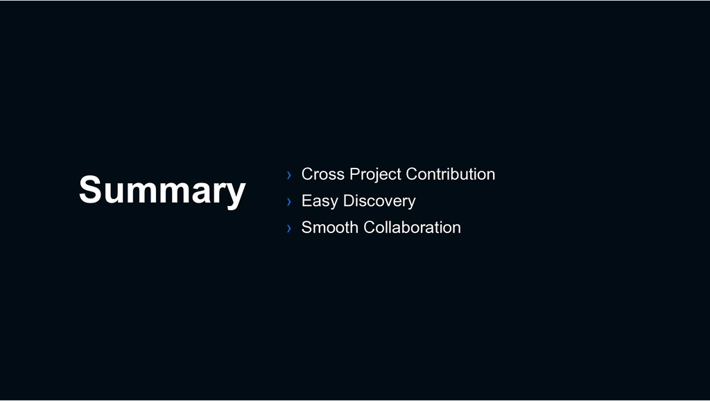 Summary › Cross Project Contribution › Easy Dis...