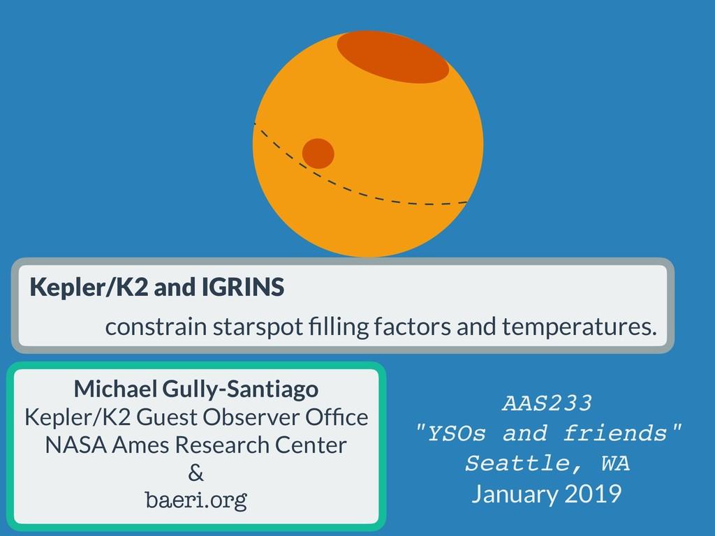 Kepler/K2 and IGRINS constrain starspot filling ...