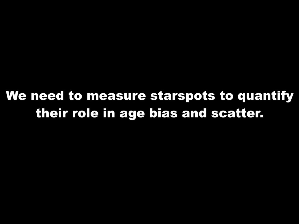 We need to measure starspots to quantify their ...