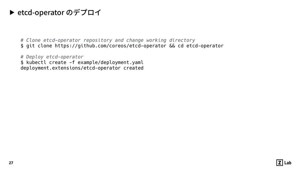 # Clone etcd-operator repository and change wor...