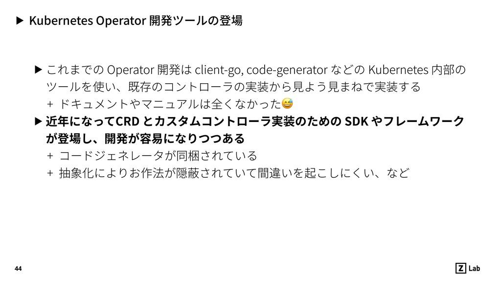 ▶ Kubernetes Operator 開発ツールの登場 ▶ これまでの Operator...