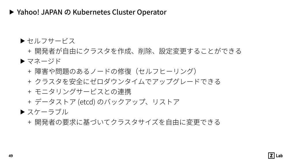 ▶ Yahoo! JAPAN の Kubernetes Cluster Operator ▶ ...