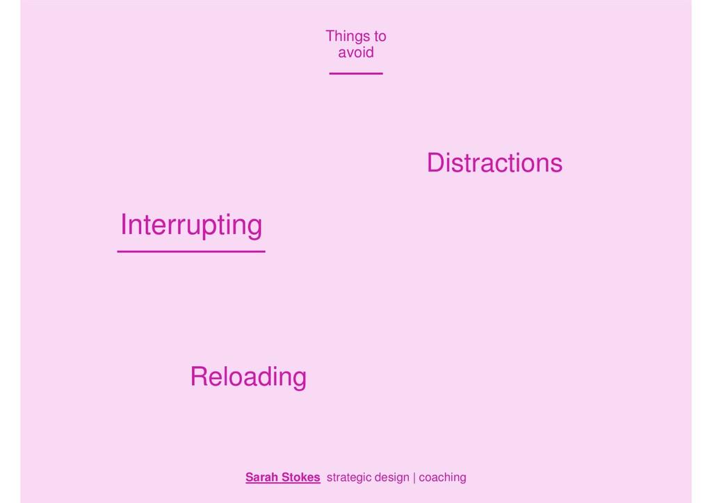 Sarah Stokes strategic design | coaching Things...