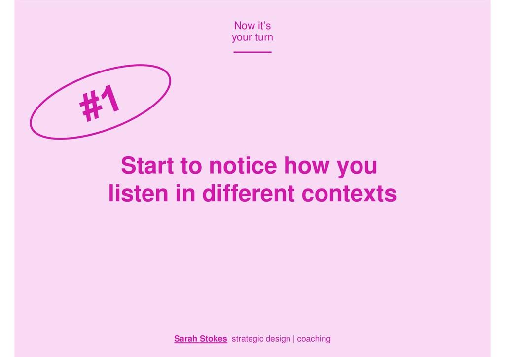Sarah Stokes strategic design | coaching Now it...