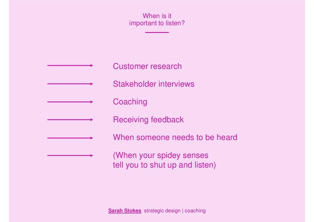 Sarah Stokes strategic design | coaching When i...