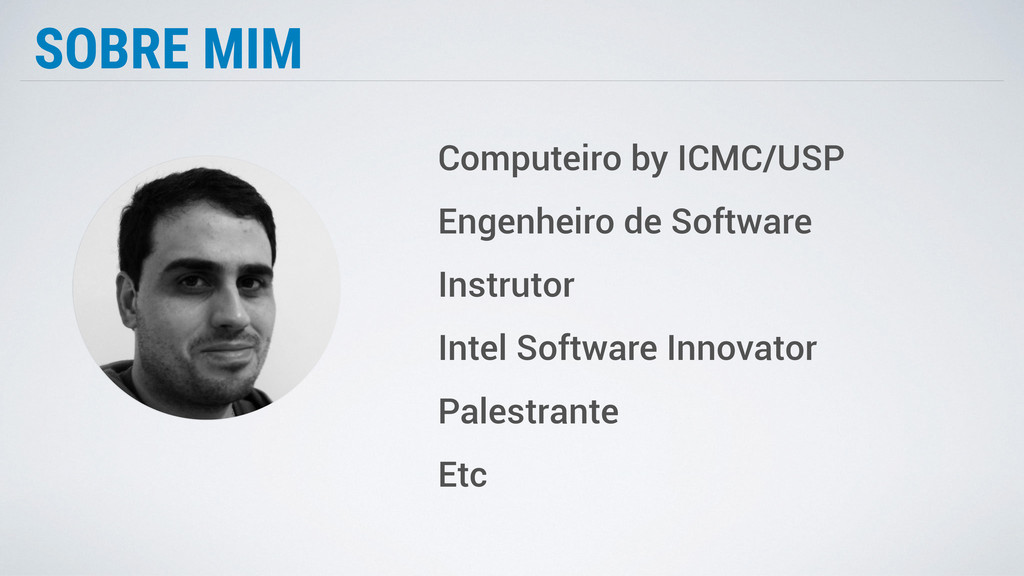 SOBRE MIM Computeiro by ICMC/USP Engenheiro de ...