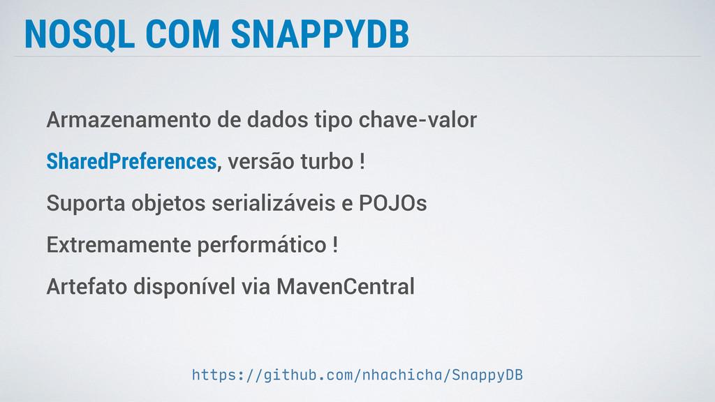 NOSQL COM SNAPPYDB Armazenamento de dados tipo ...