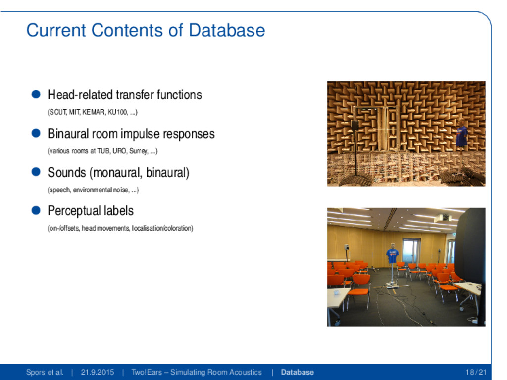 Current Contents of Database Head-related trans...