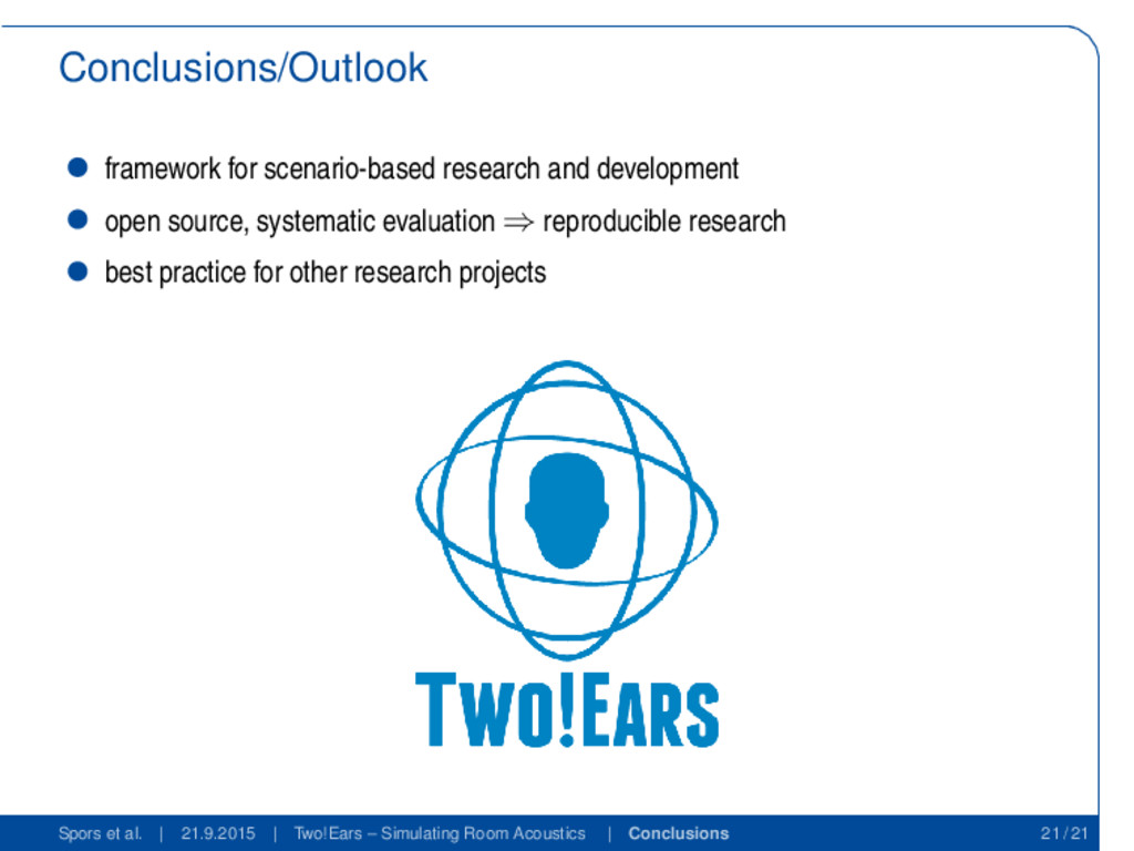 Conclusions/Outlook framework for scenario-base...