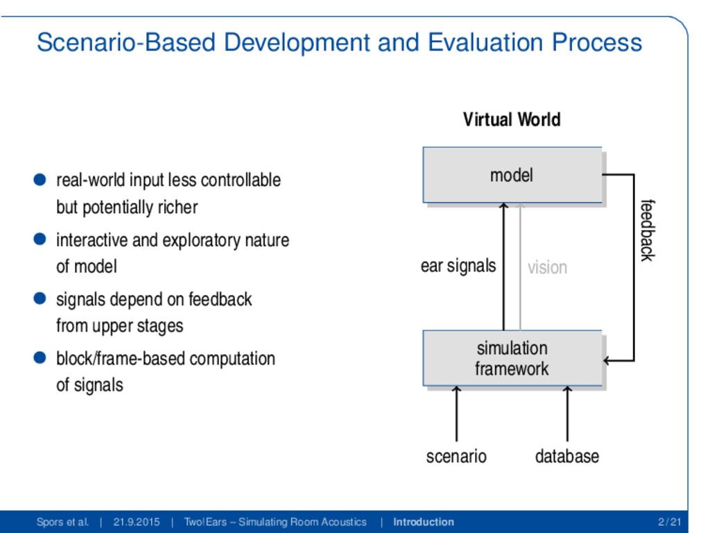 Scenario-Based Development and Evaluation Proce...