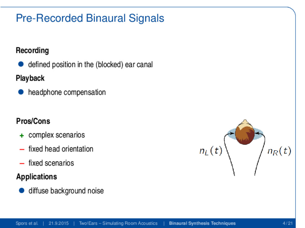 Pre-Recorded Binaural Signals Recording defined ...