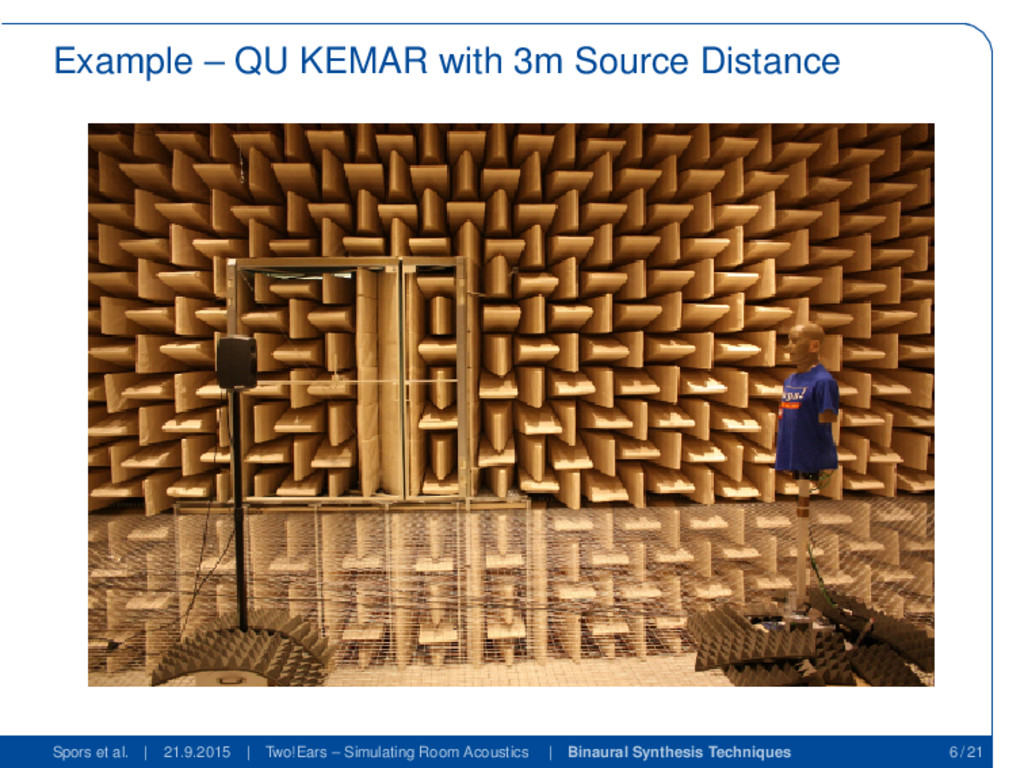 Example – QU KEMAR with 3m Source Distance Spor...