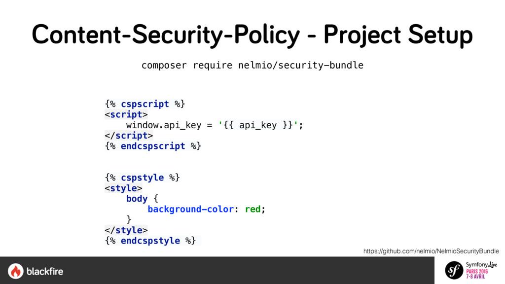 composer require nelmio/security-bundle  {% cs...