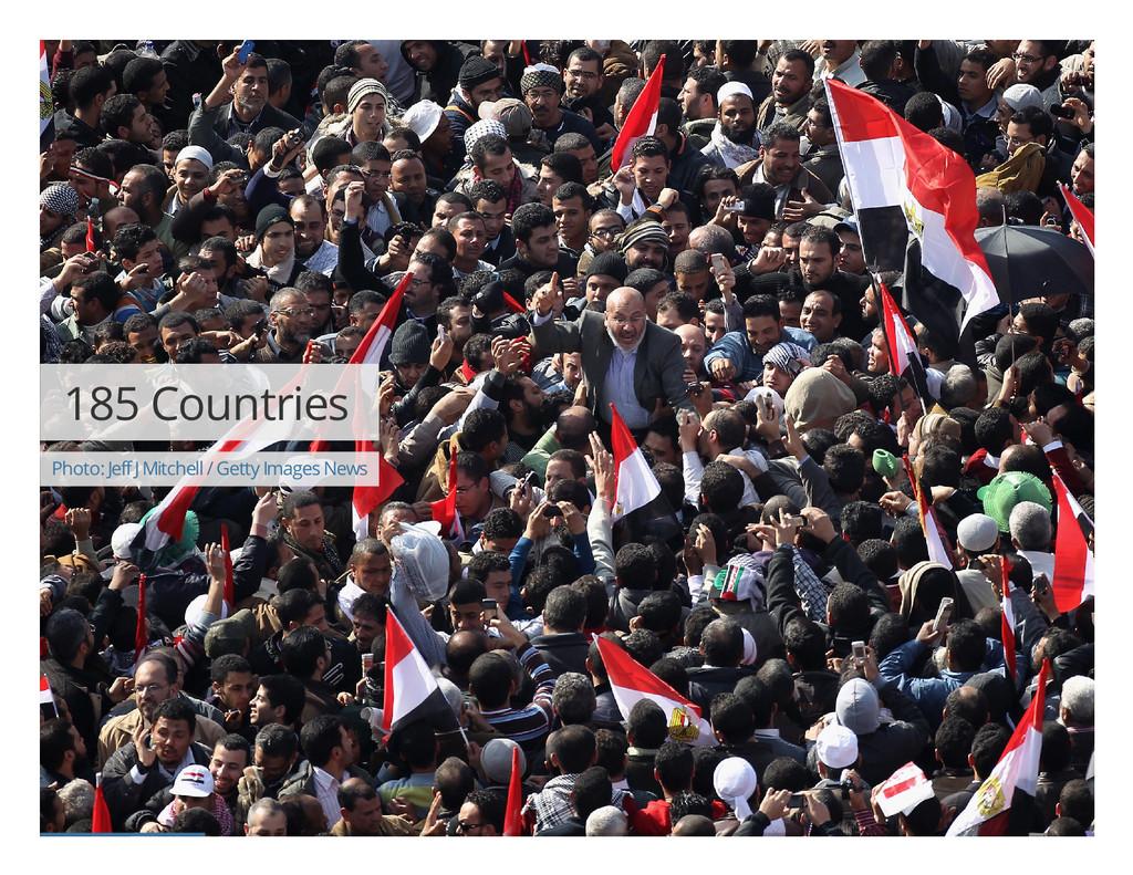 185 Countries Photo: Jeff J Mitchell / Getty Im...