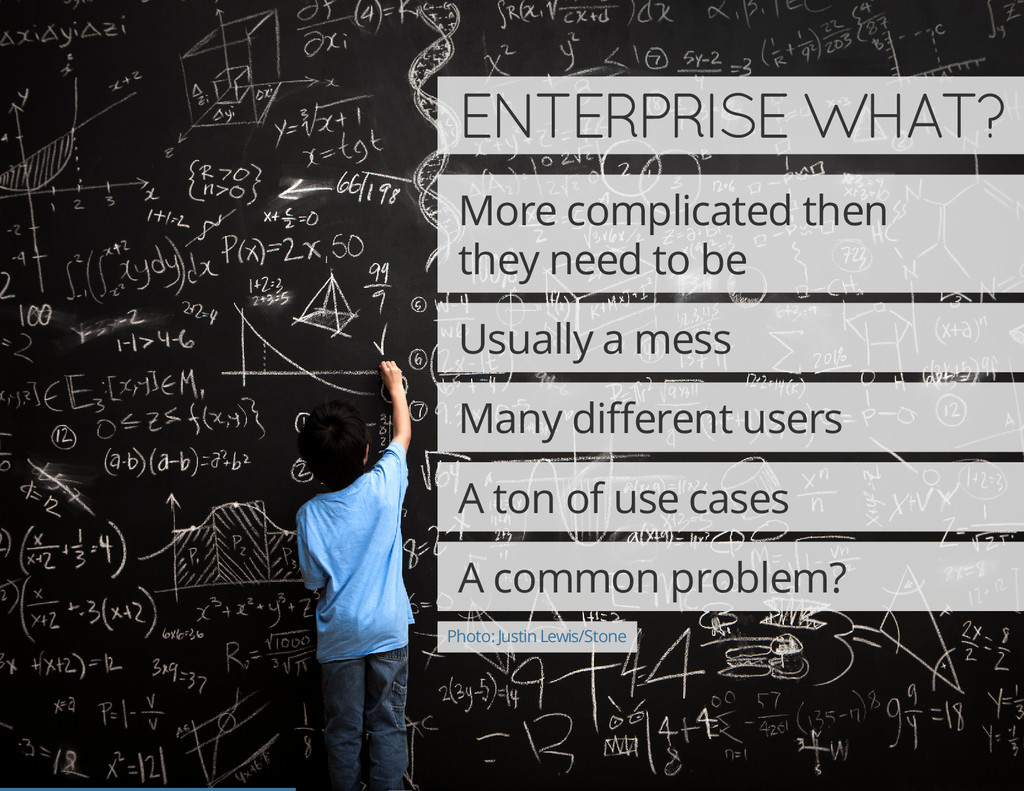 ENTERPRISE WHAT? More complicated then they nee...