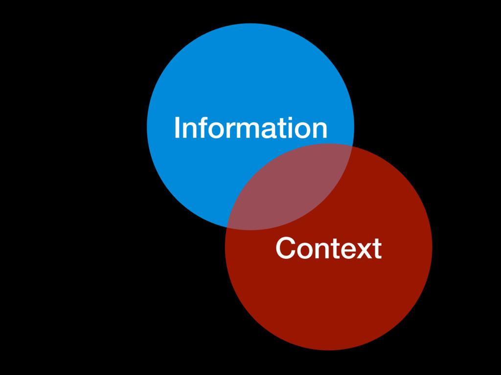 Information Context