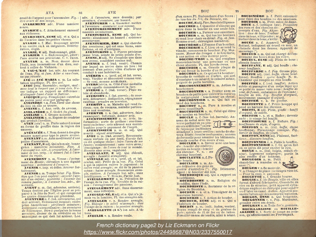 French dictionary page2 by Liz Eckmann on Flick...