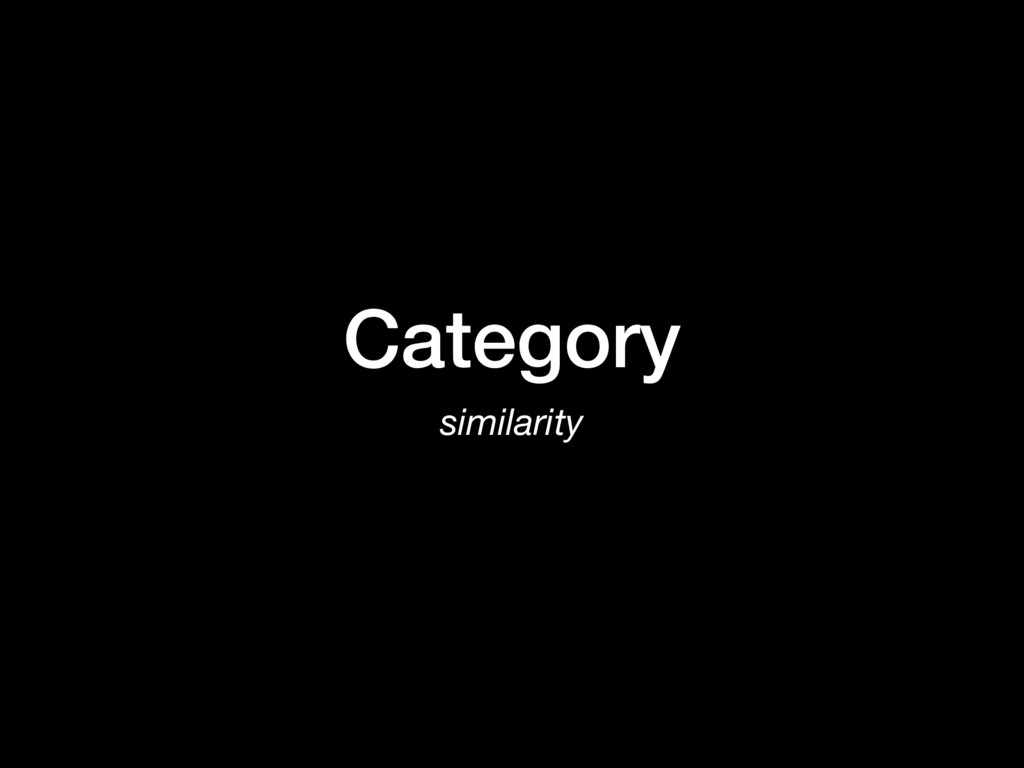 Category similarity