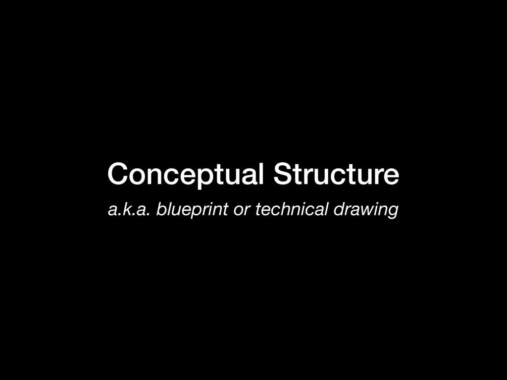 Conceptual Structure a.k.a. blueprint or techni...