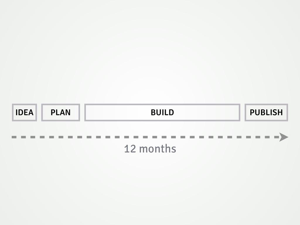 IDEA PLAN BUILD PUBLISH 12 months