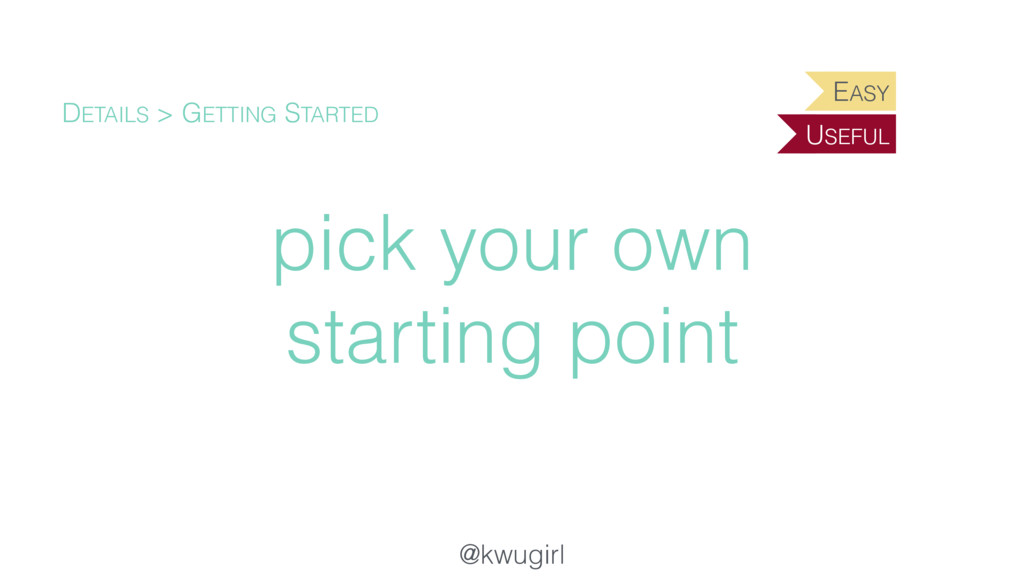 @kwugirl pick your own starting point DETAILS >...