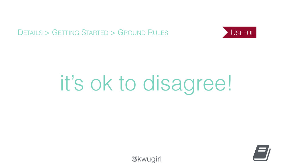 @kwugirl it's ok to disagree! DETAILS > GETTING...