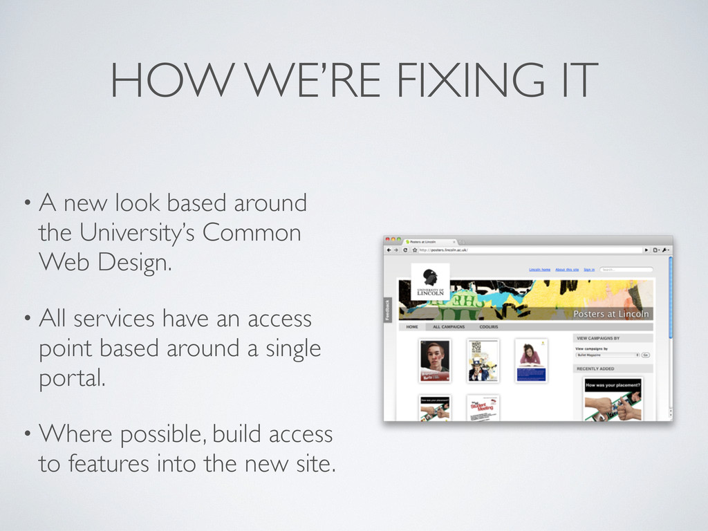 HOW WE'RE FIXING IT • A new look based around t...