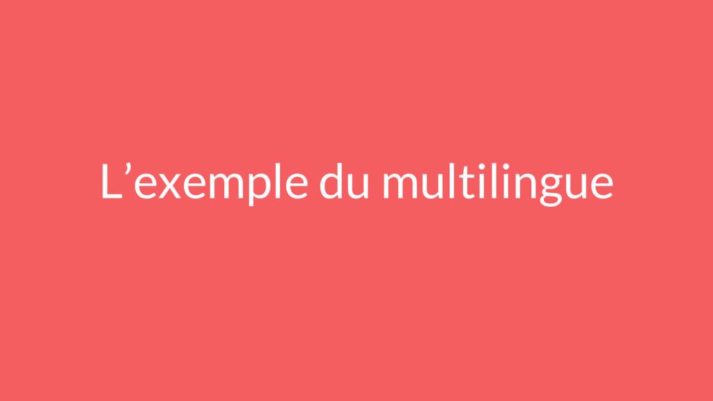 L'exemple du multilingue
