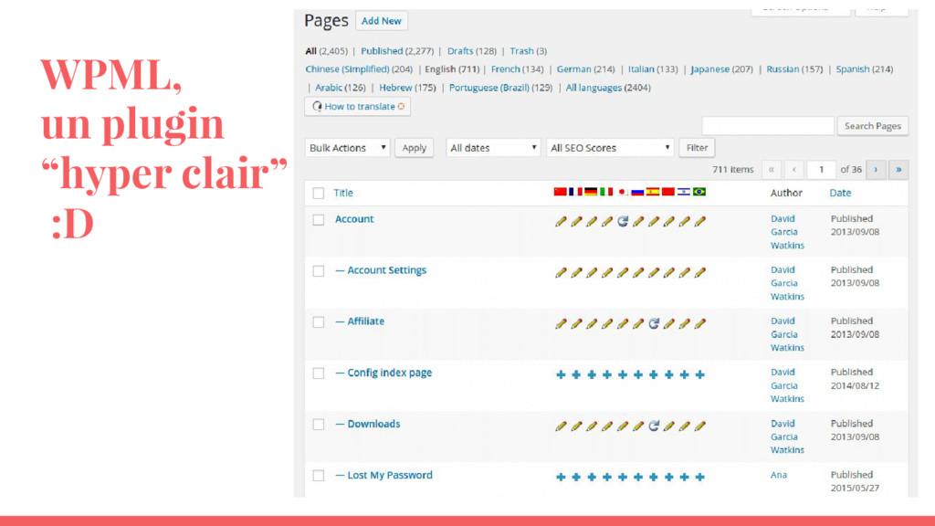 "WPML, un plugin ""hyper clair"" :D"