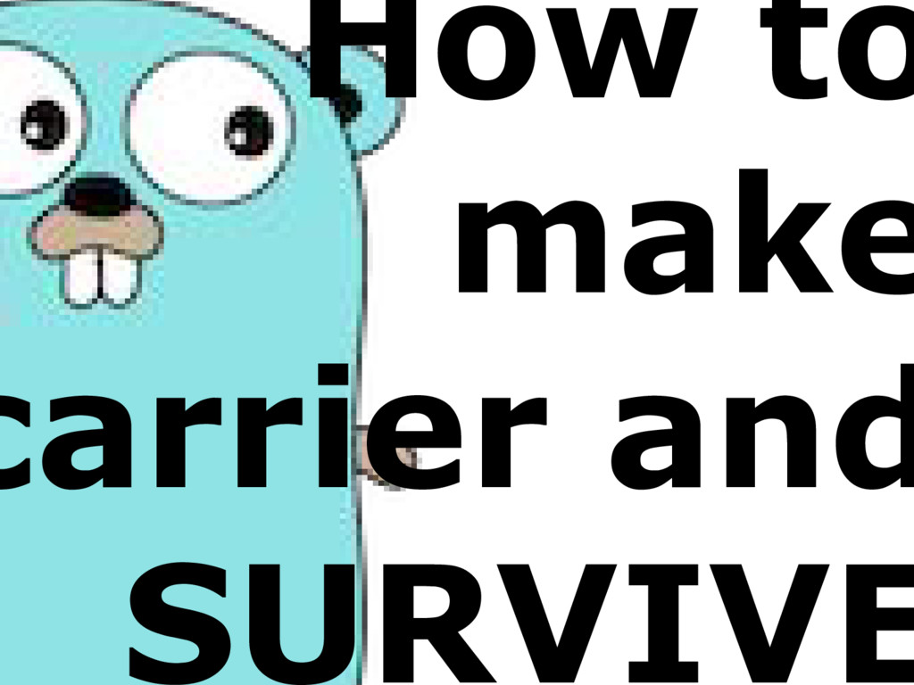 How to make carrier and SURVIVE