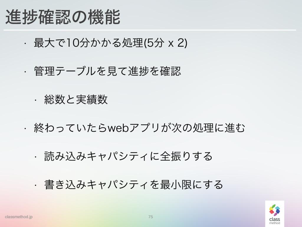 classmethod.jp 75 ਐḿ֬ͷػ w ࠷େͰ͔͔Δॲཧ Y ...