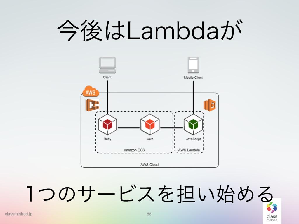 88 ͭͷαʔϏεΛ୲͍ΊΔ ࠓޙ-BNCEB͕ classmethod.jp