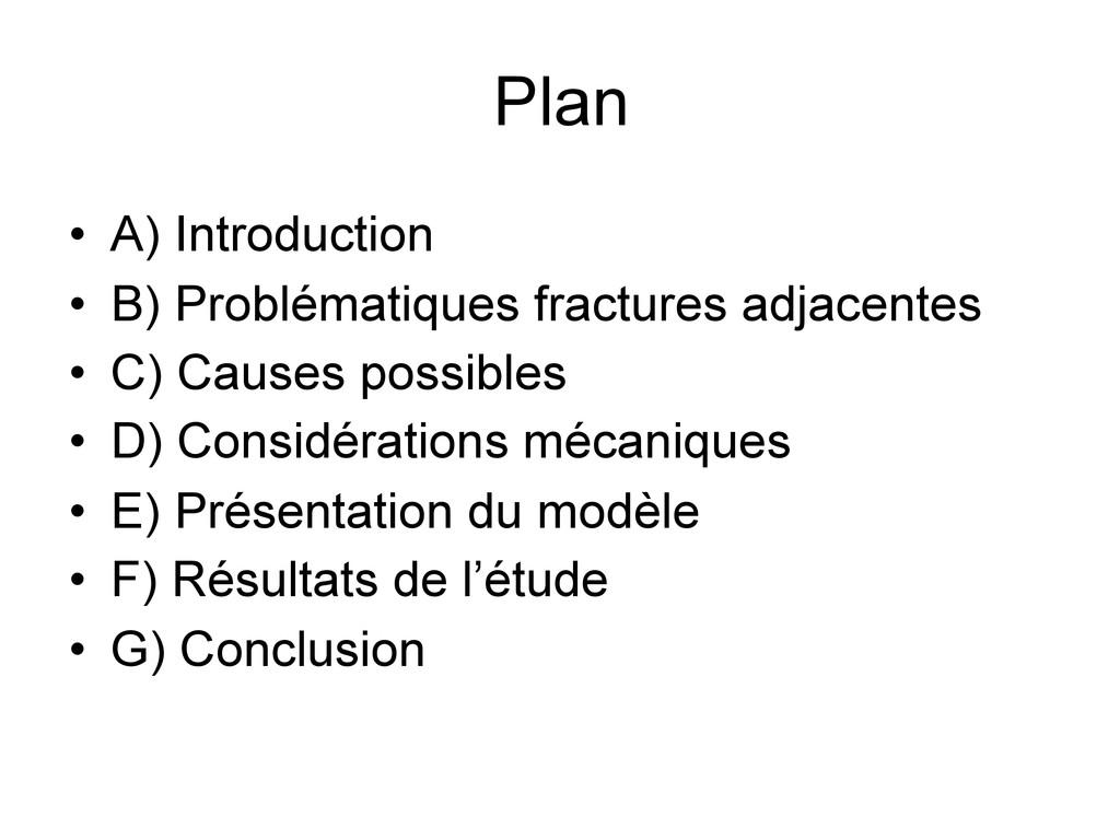 Plan • A) Introduction • B) Problématiques frac...