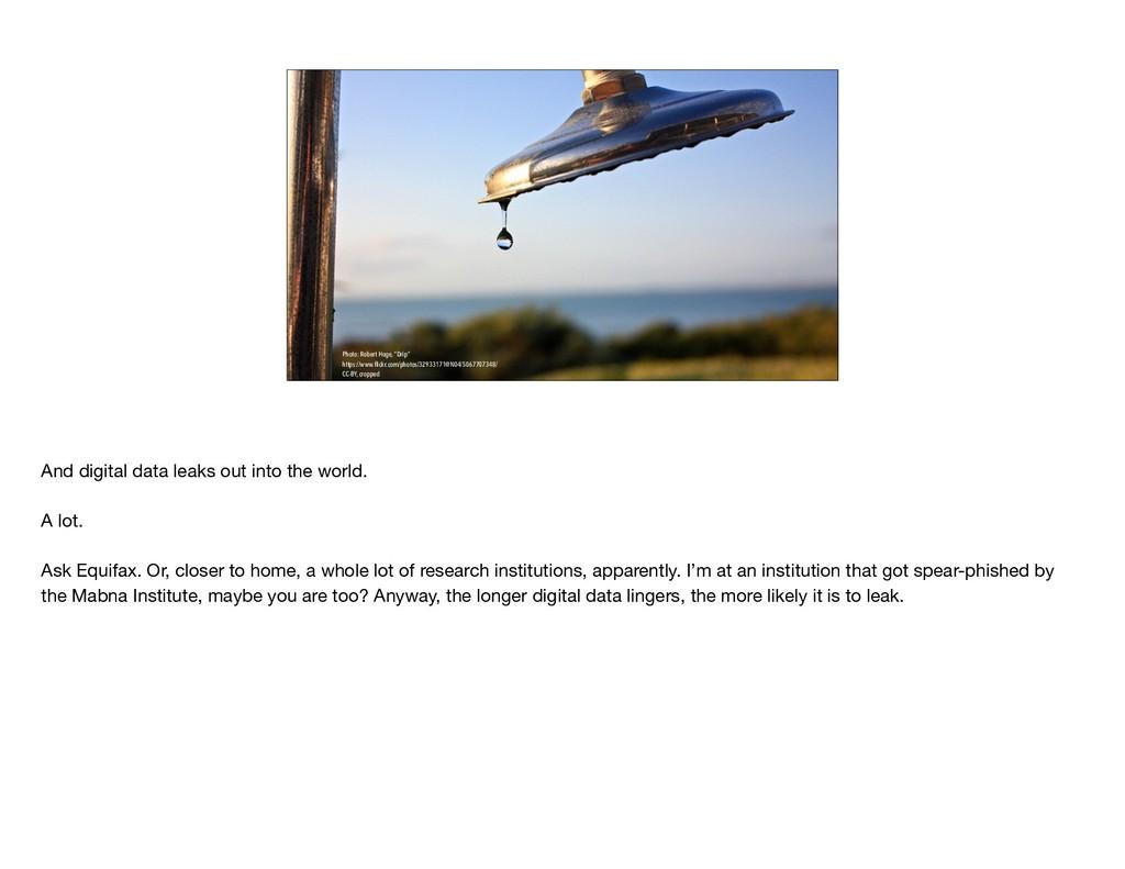 """Photo: Robert Hoge, """"Drip"""" https://www.flickr.co..."""