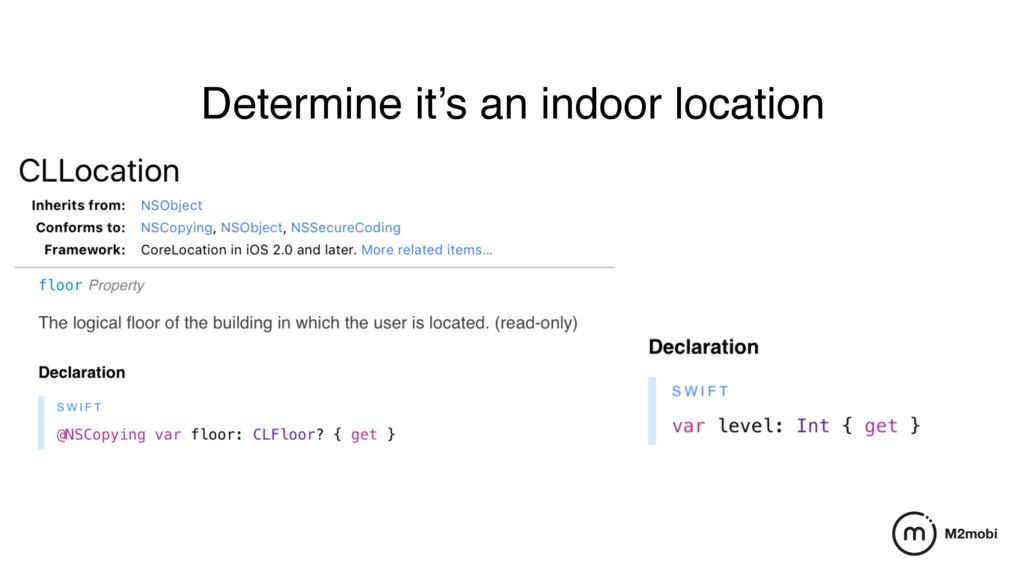 Determine it's an indoor location