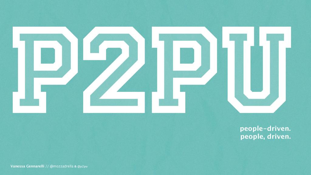 Vanessa Gennarelli // @mozzadrella & @p2pu peop...