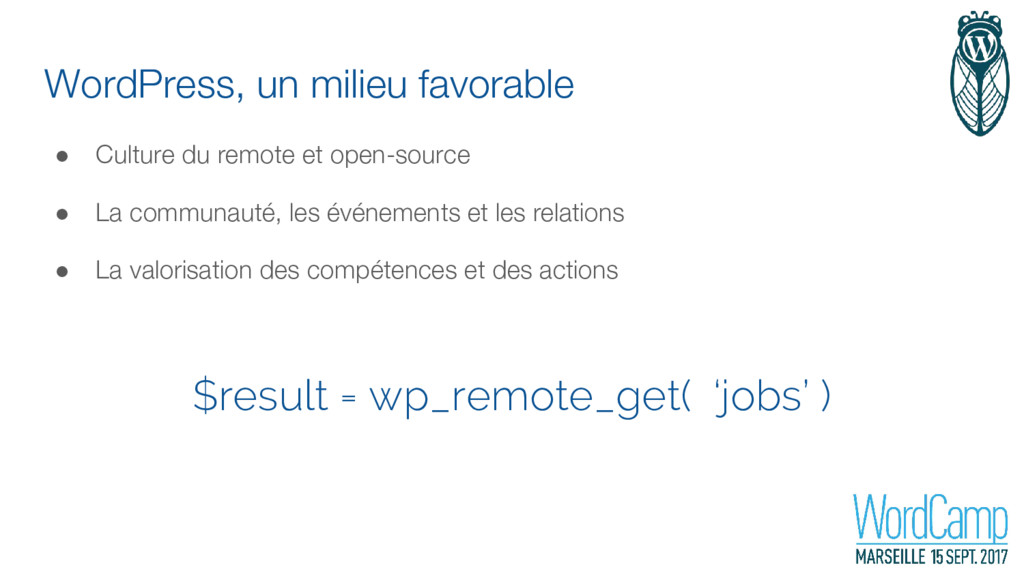 WordPress, un milieu favorable ● Culture du rem...