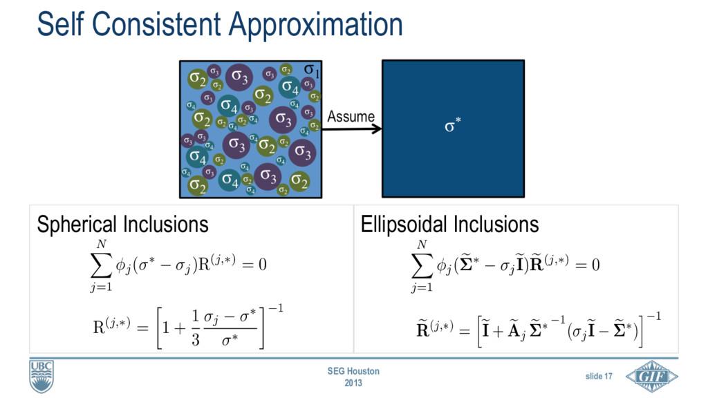slide 17 SEG Houston 2013 e R(j,⇤) = h e I + e ...