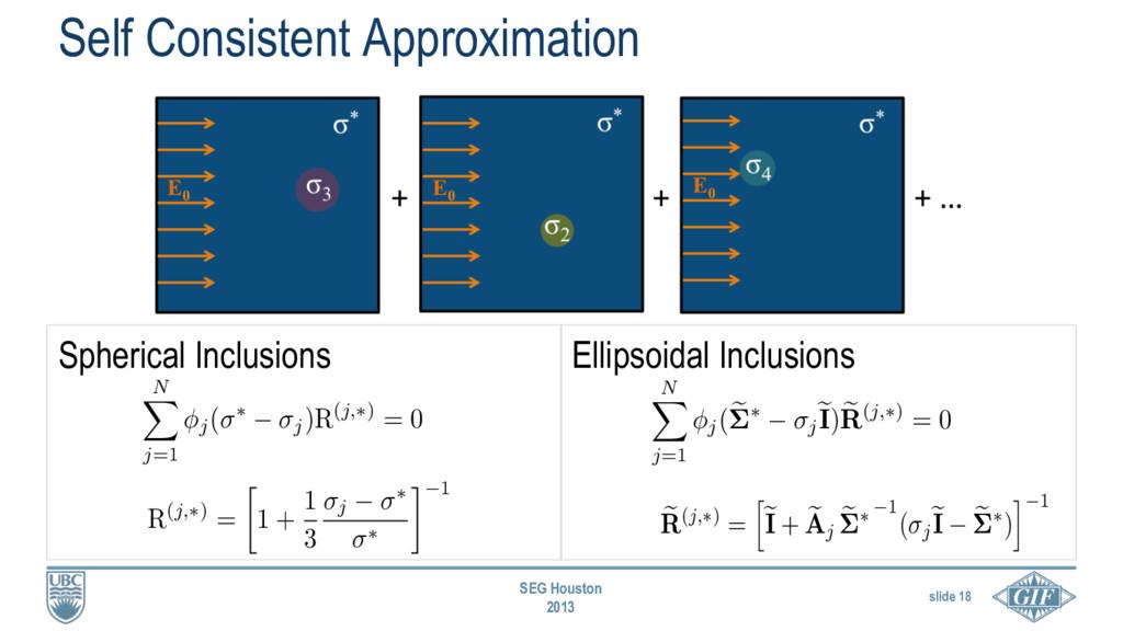 slide 18 SEG Houston 2013 e R(j,⇤) = h e I + e ...