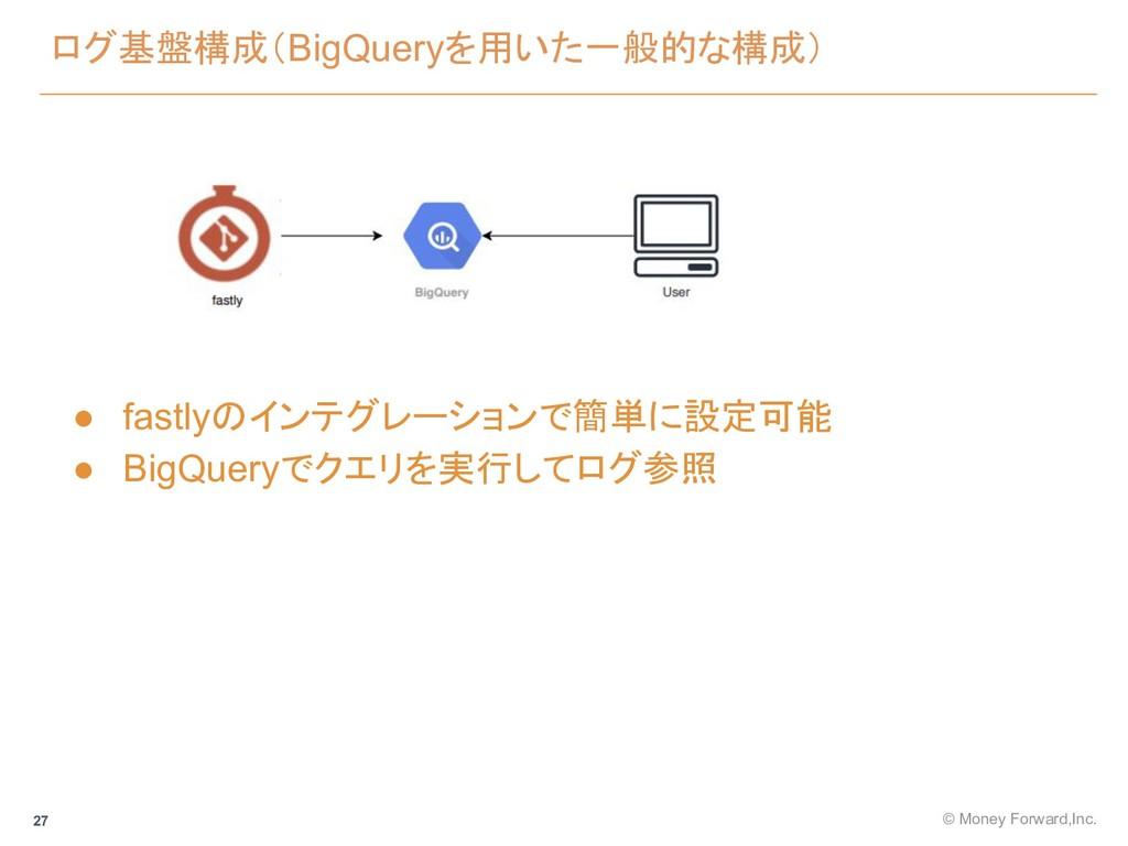 ログ基盤構成(BigQueryを用いた一般的な構成) © Money Forward,Inc....