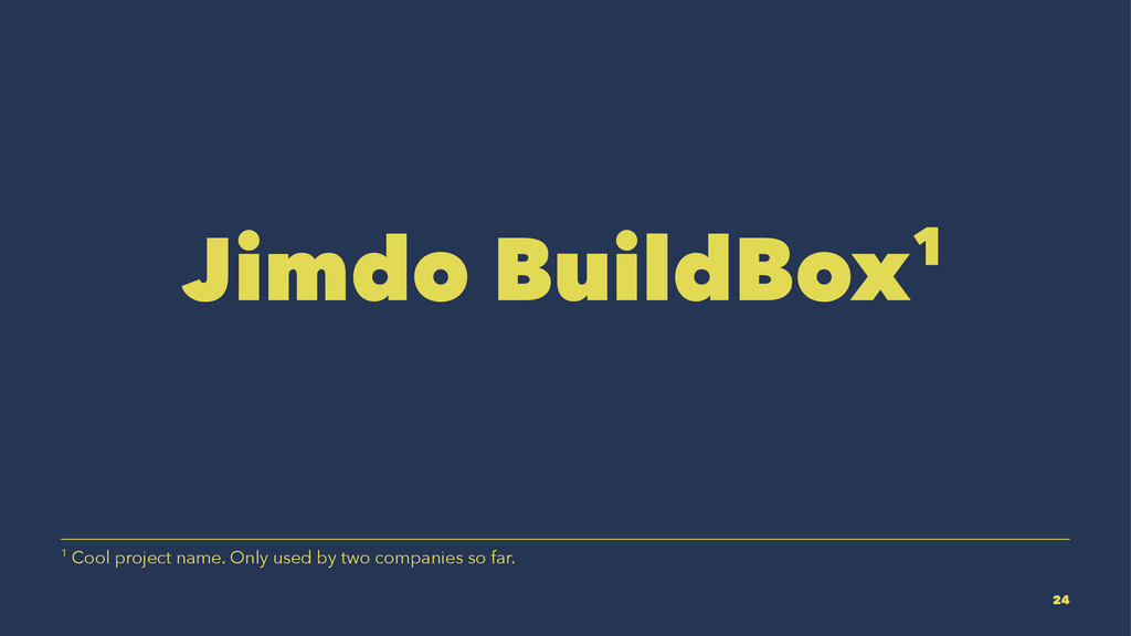 Jimdo BuildBox1 1 Cool project name. Only used ...